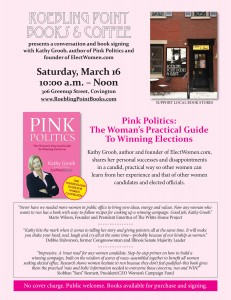 PINK POLITICS Author Kathy Groob to Hold Book Signing and Women in Politics Conversation in Covington KY March 16th