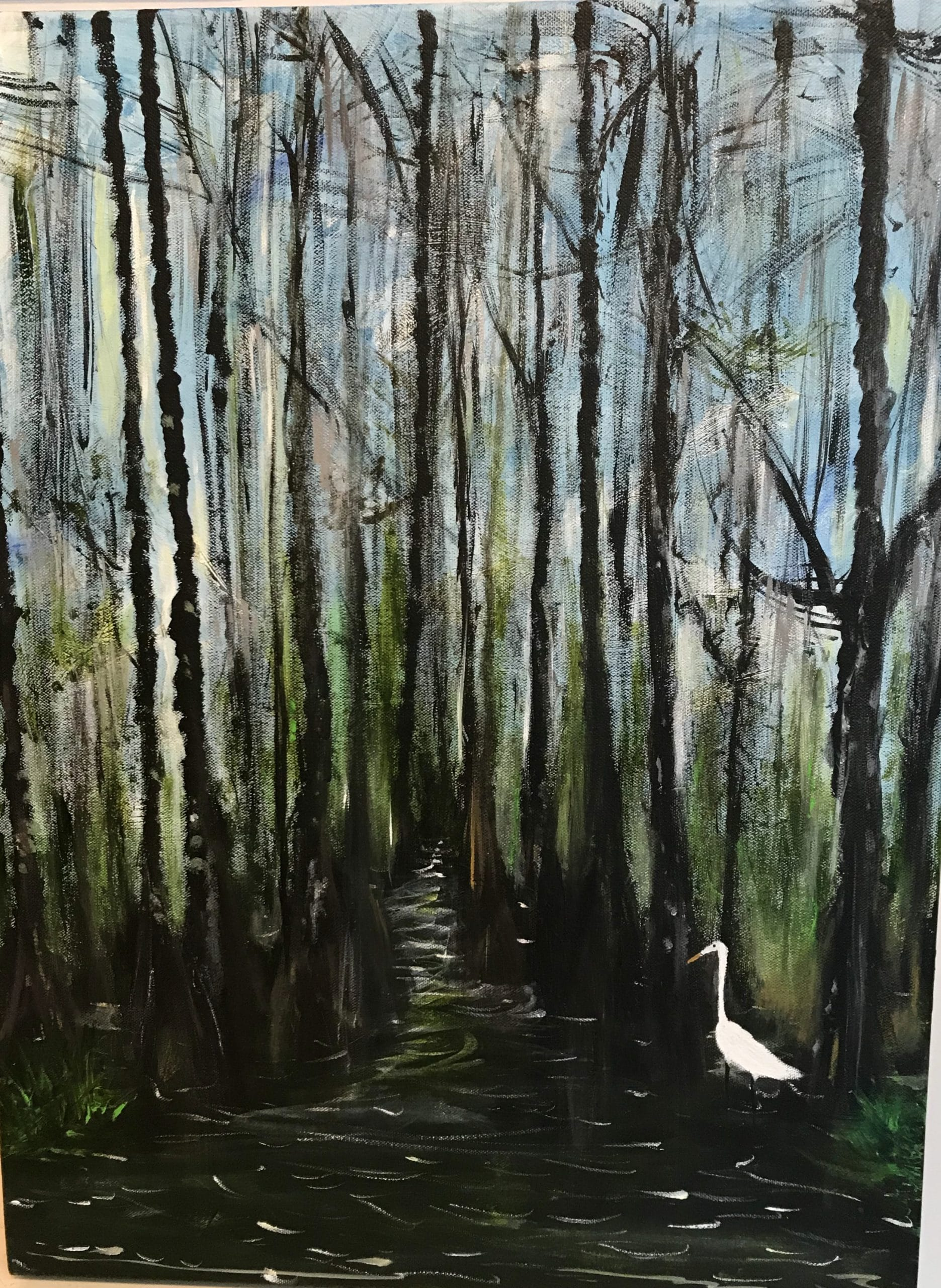 Egret at Honey Swamp
